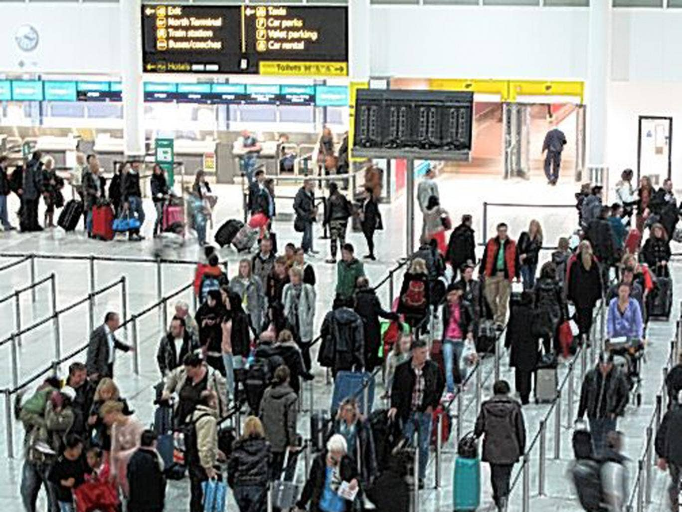 Uneasy situation: passengers stranded at Gatwick this week