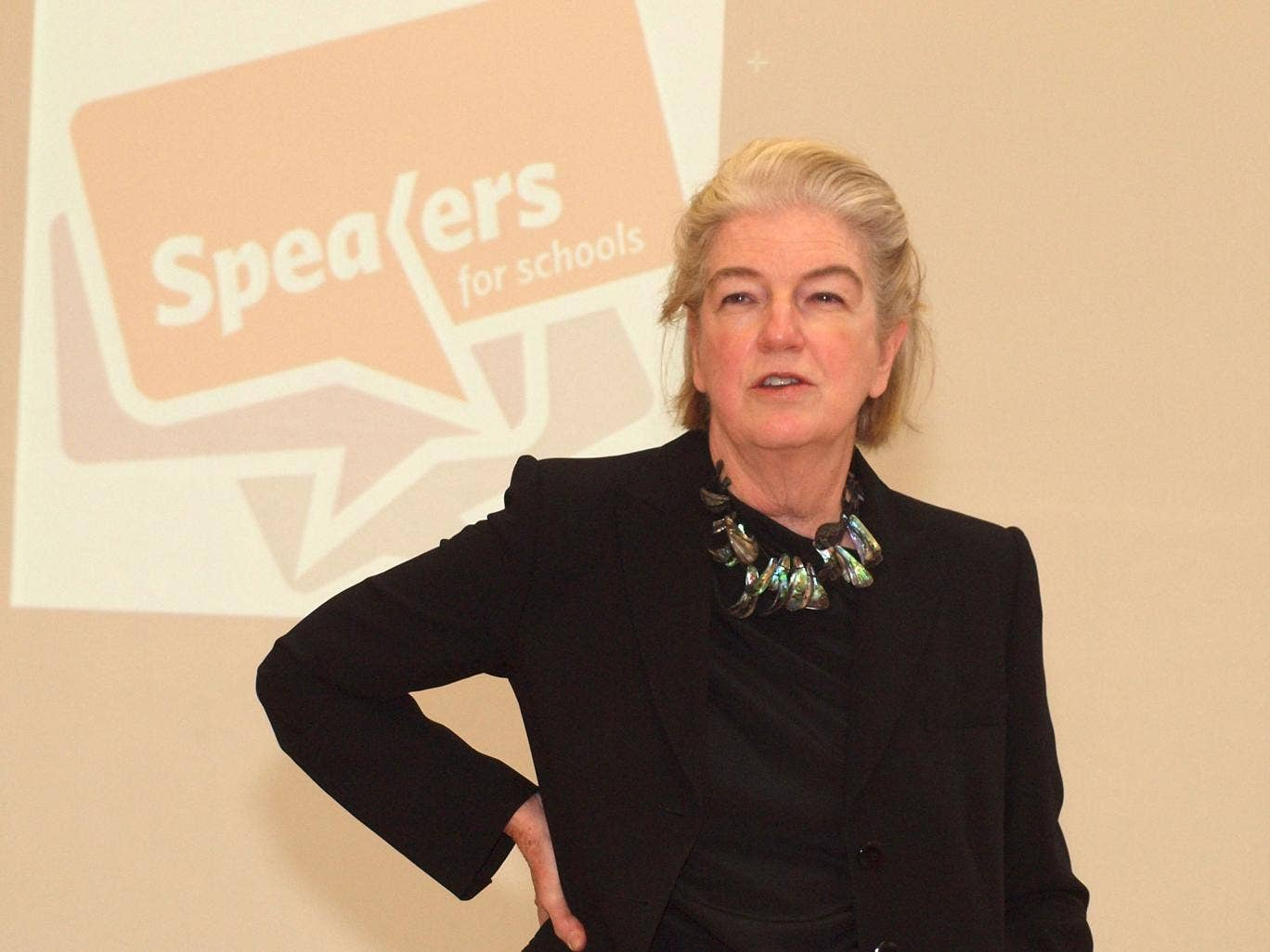 Dame Marjorie Scardino speaks to girls at Eltham Hill Technology College