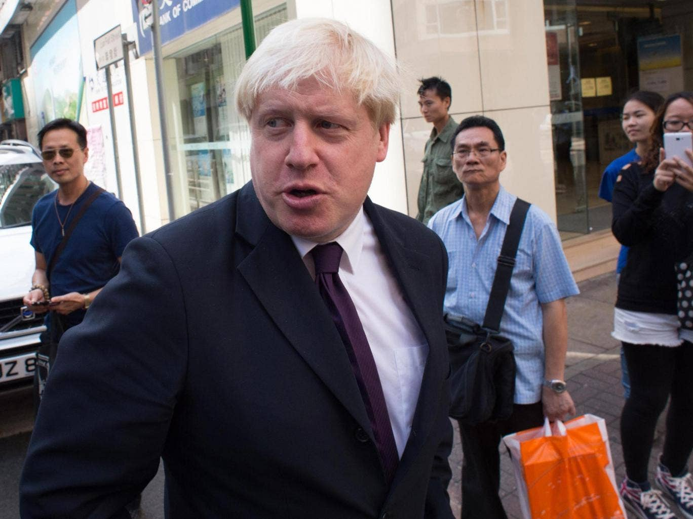 London Mayor Boris Johnson in Hong Kong on the final day of a week long visit to China to promote trade between the far east and London