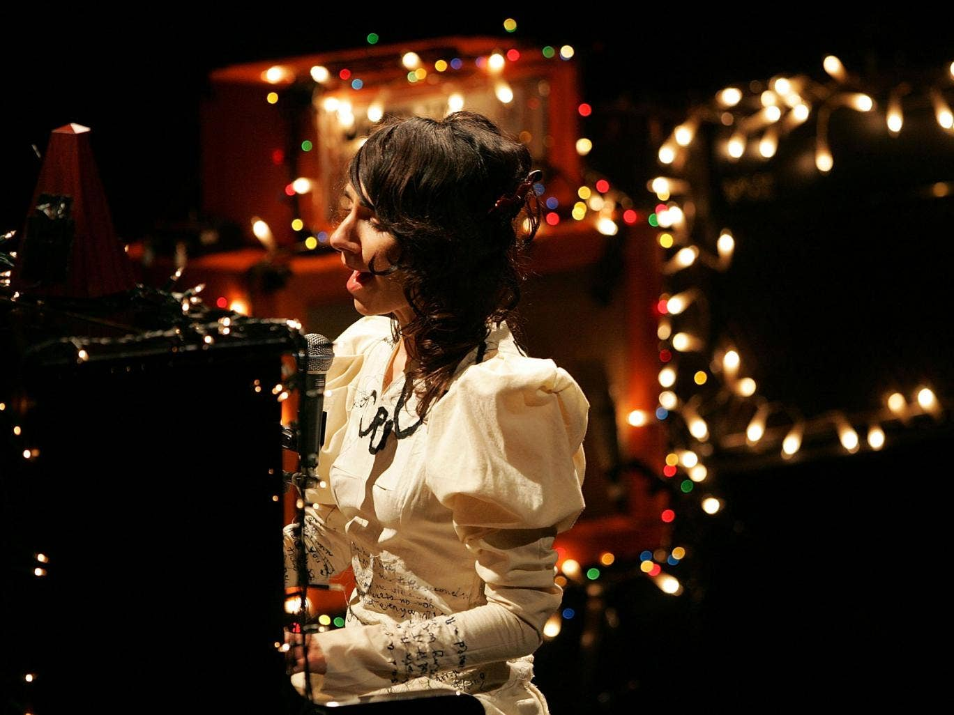 The true face of England and Englishness? PJ Harvey performs in Auckland, New Zealand earlier this year.