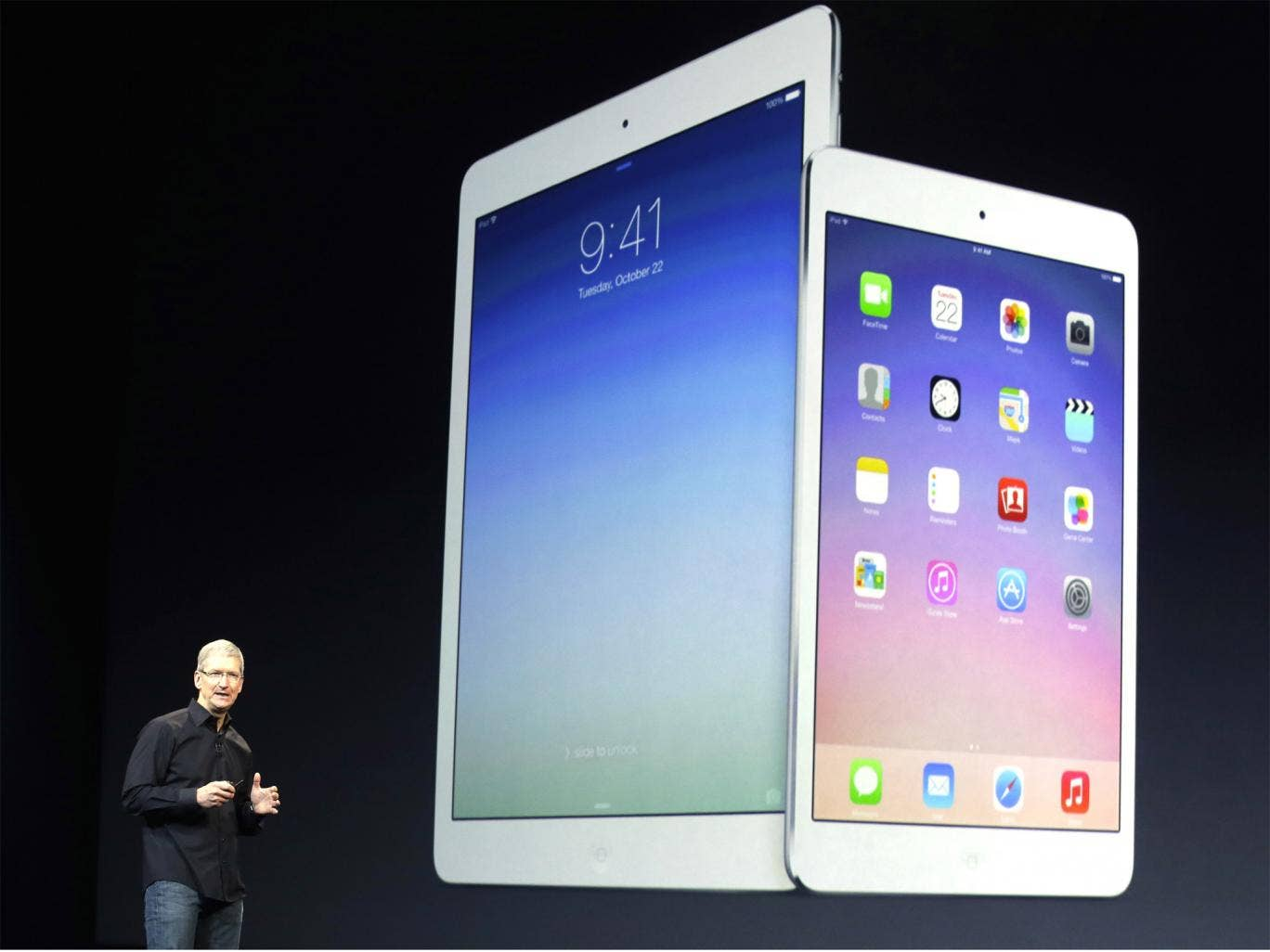 Apple CEO Tim Cook introduces the new iPad Air