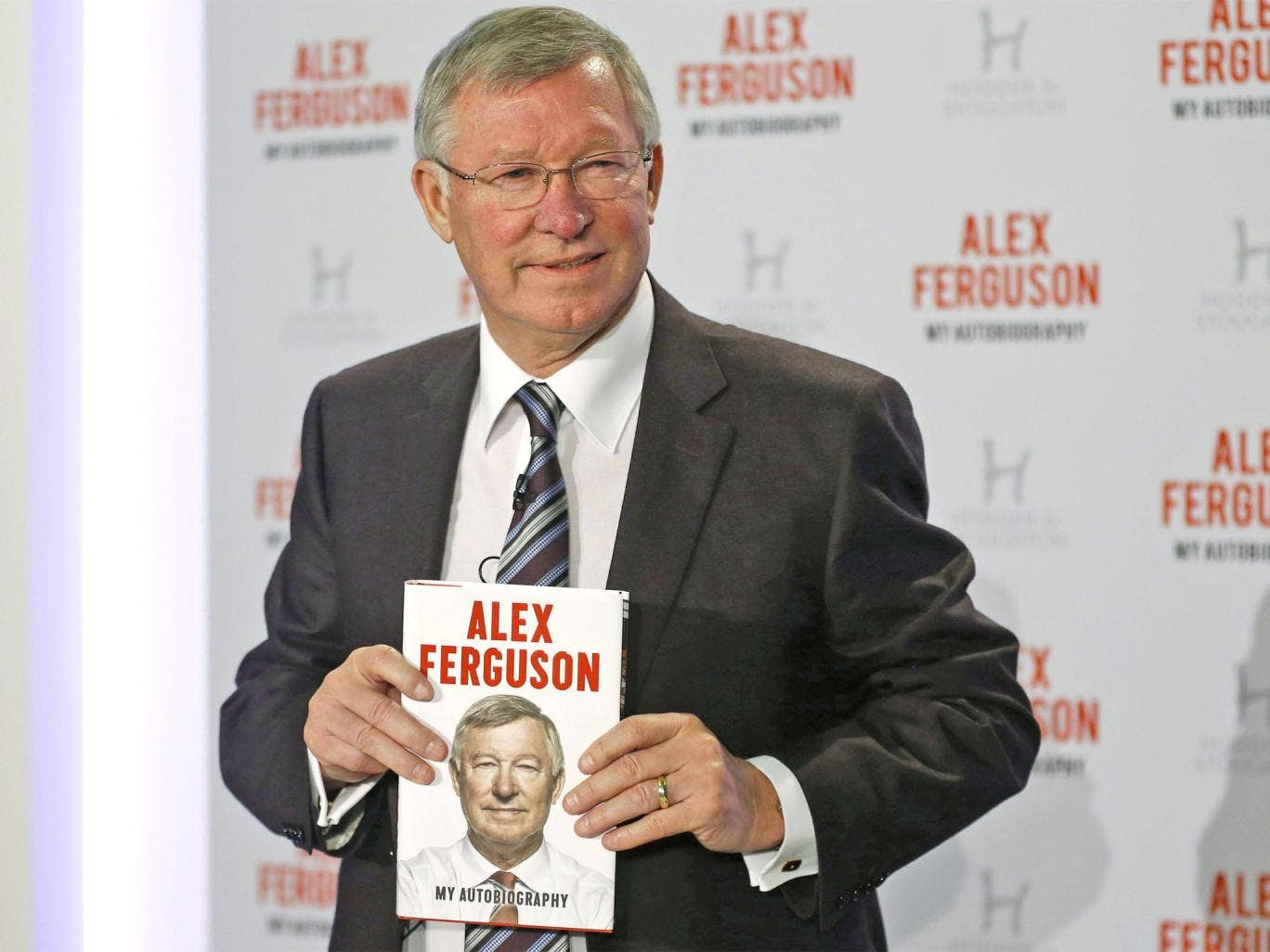Sir Alex Ferguson during the launch of his autobiography in London