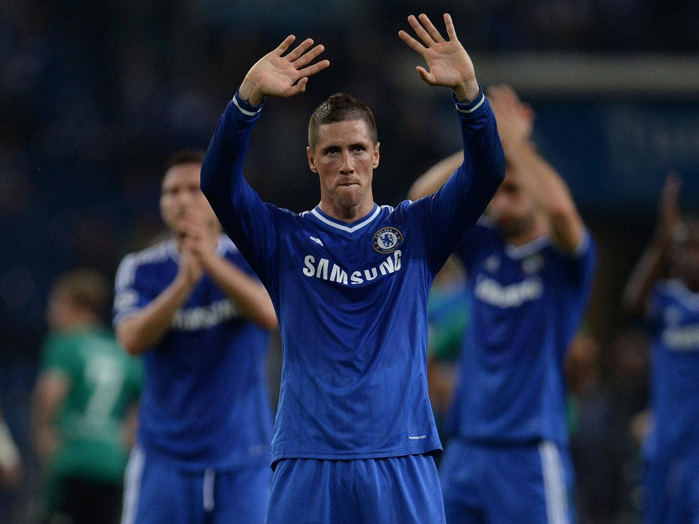 Fernando Torres scored twice in the 3-0 win over Schalke