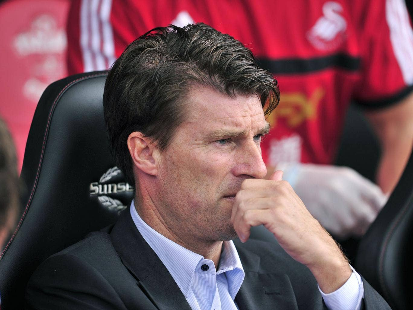 Swansea City's Danish manger Michael Laudrup is pictured before the start of the English Premier League football match between Southampton and Swansea City