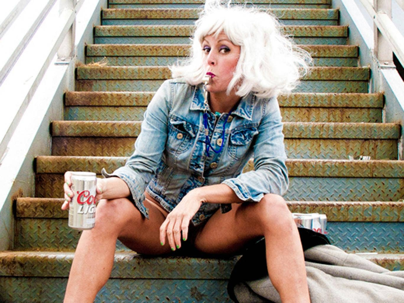 Adrienne Truscott is a stand-up who performs naked from the waist down