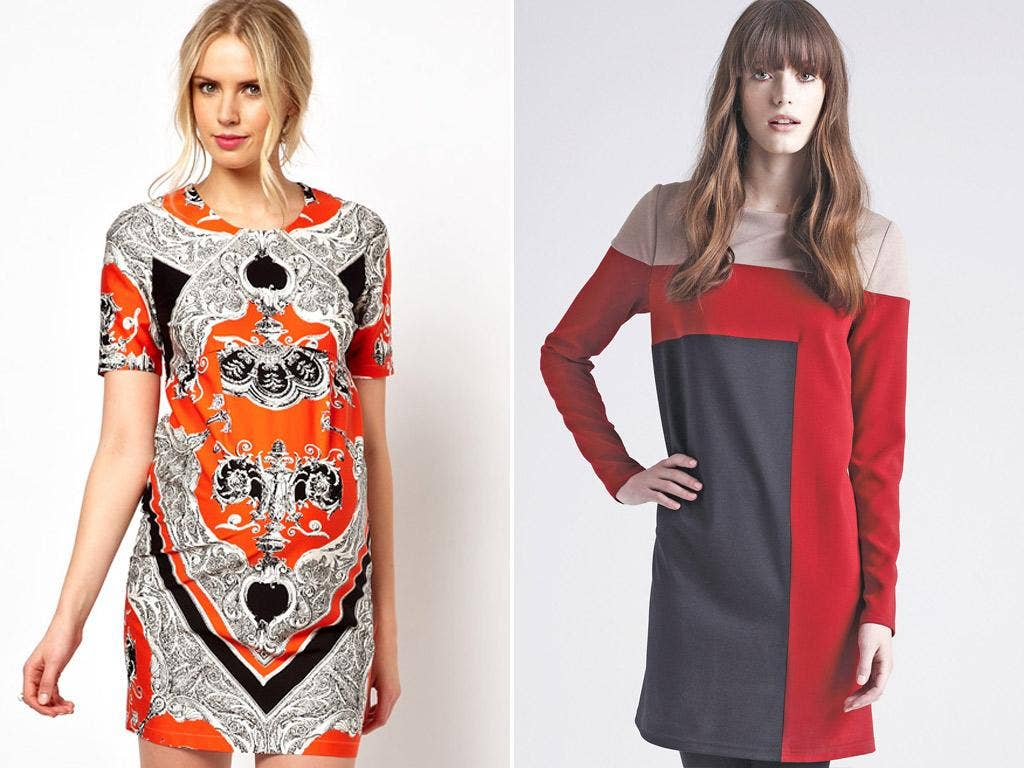 Models wear outfits from Asos (left) and Debenhams