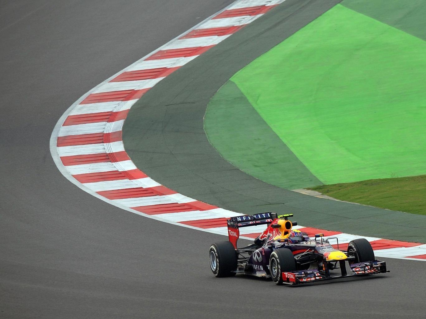 Sebastian Vettel during practice for the Indian Grand Prix