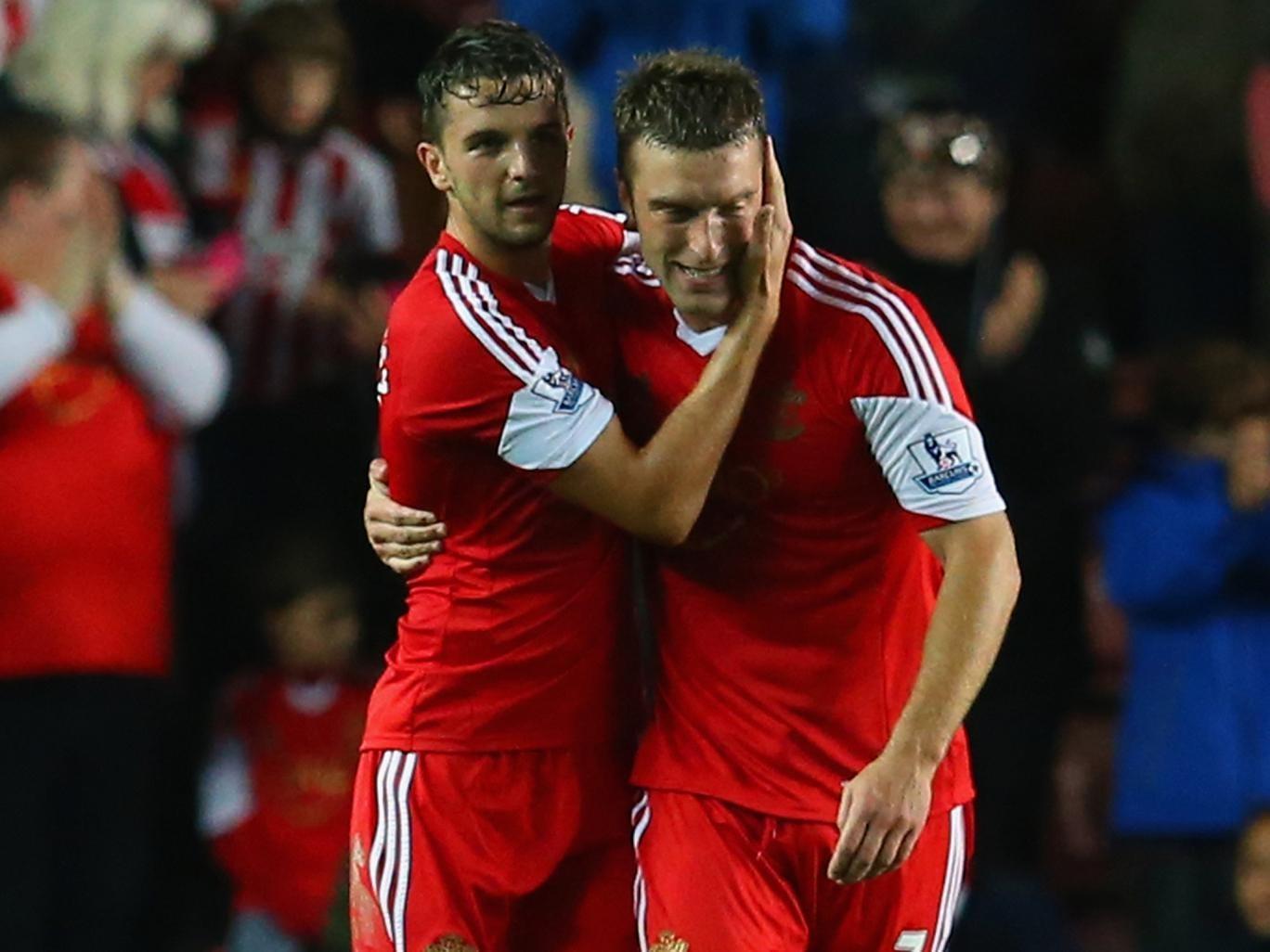 Southampton strikers Jay Rodriguez and Rickie Lambert enjoyed a fruitful evening against Fulham.