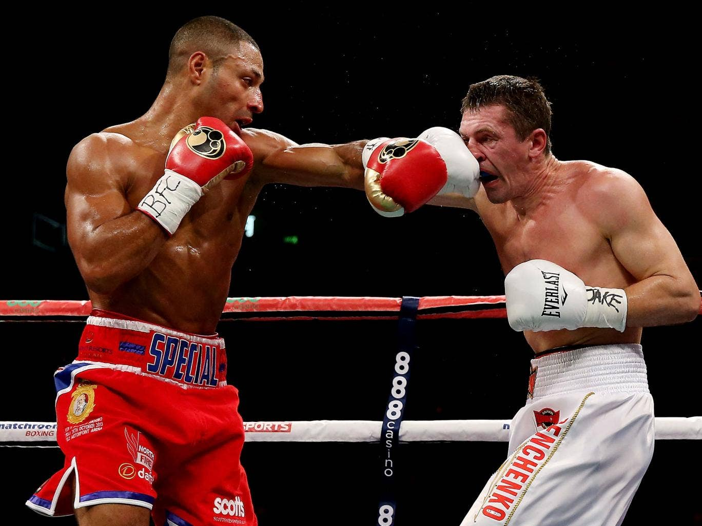 Kell Brook connects with Vyacheslav Senchenko in Sheffield