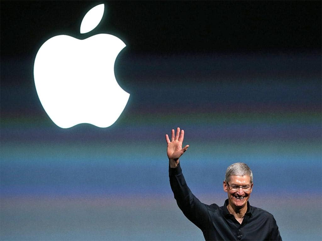 Tim Cook at an Apple presentation in September