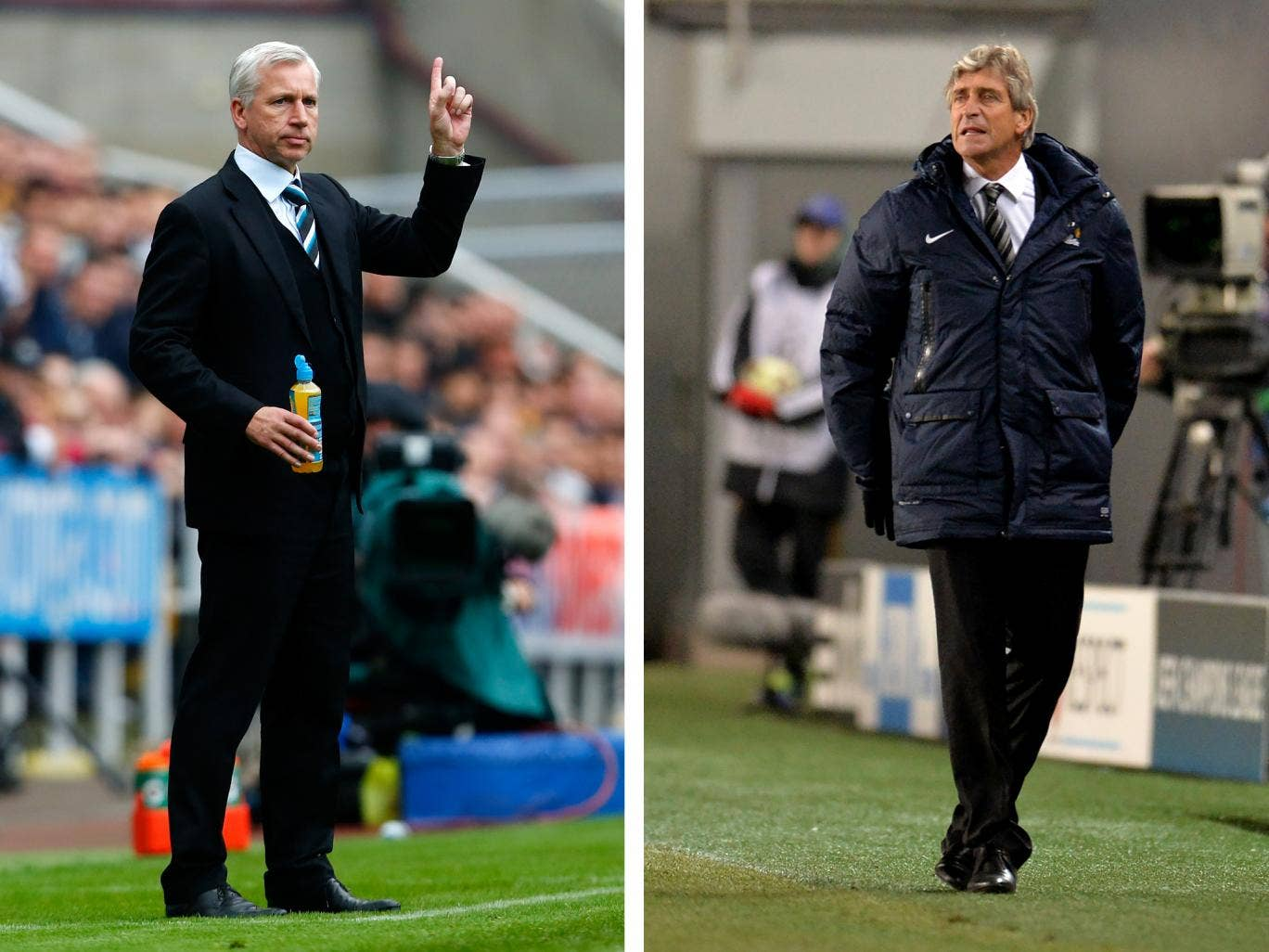 Newcastle manager Alan Pardew and Manchester City's Manuel Pellegrini will go head-to-head in the League Cup