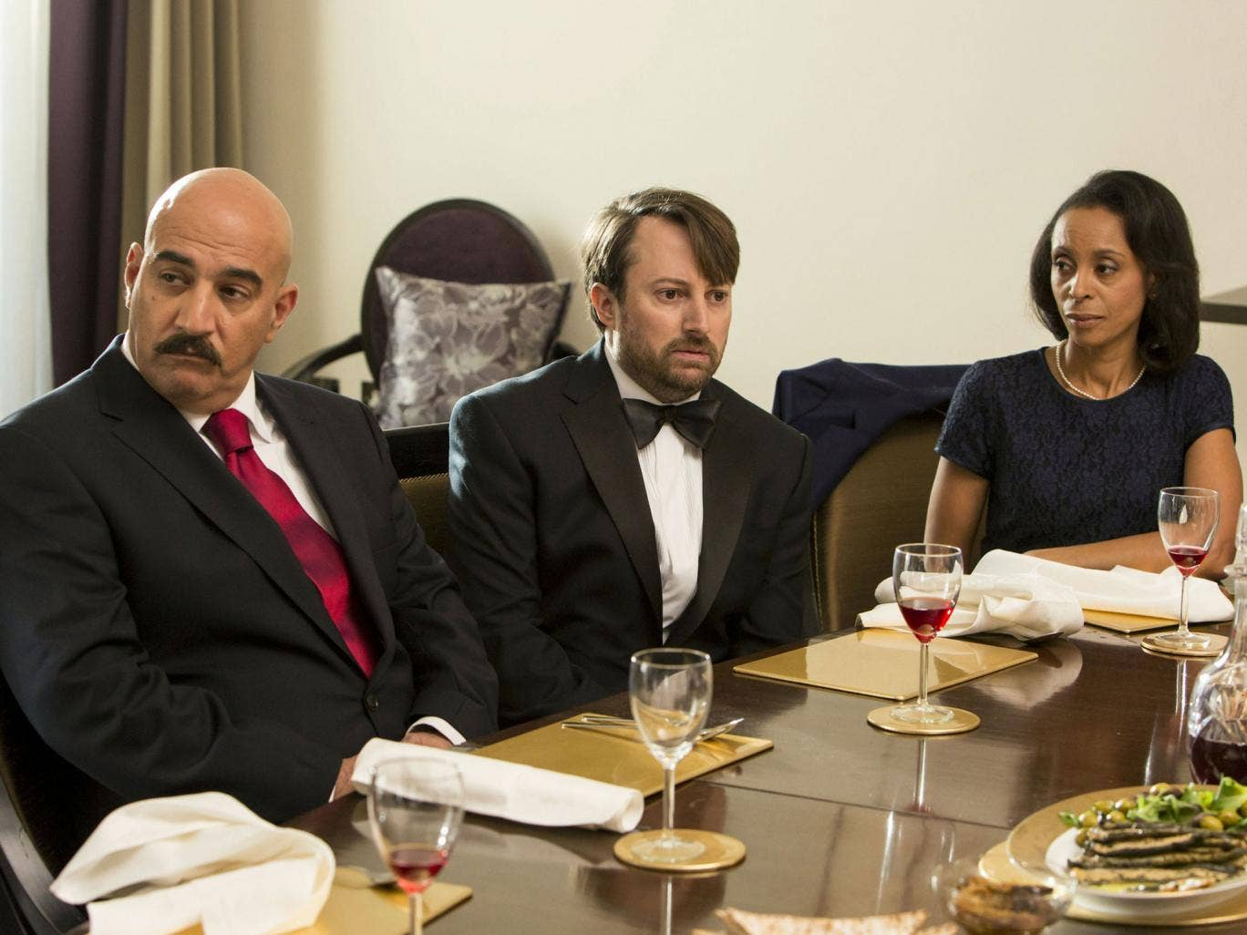 David Mitchell stars in Ambassadors, which continues on BBC2