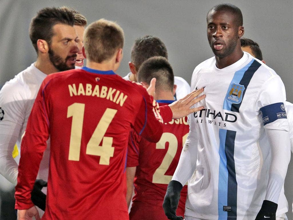 Yaya Touré was racially abused by a section of CSKA supporters