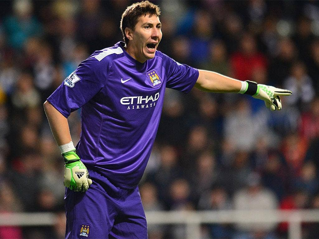 Costel Pantilimon took over in the City goal