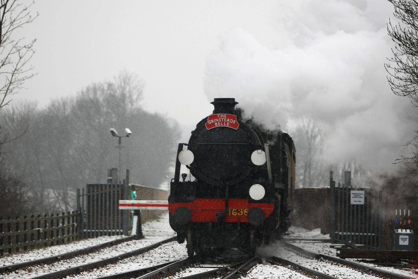 Travelling reveries: A steam train in East Grinstead