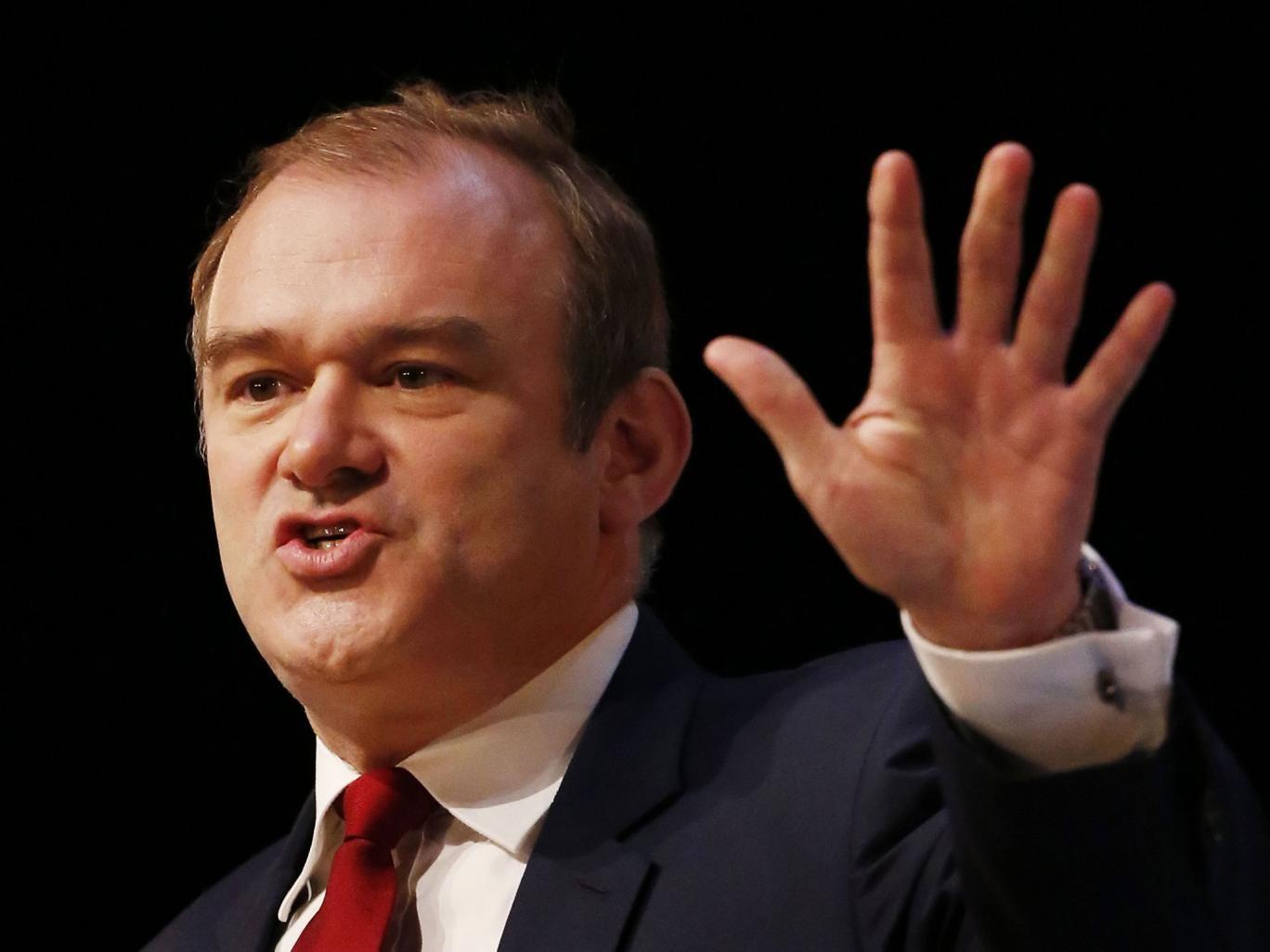 Liberal Democrat cabinet minister Ed Davey