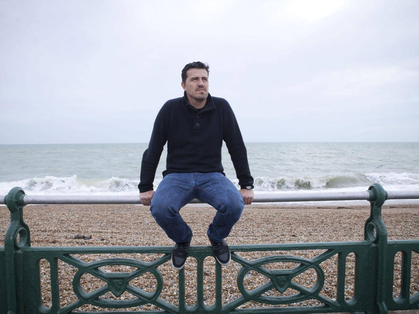 `Oscar Garcia, Manager of Championship side Brighton & Hove Albion pictured on the promenade in Hove