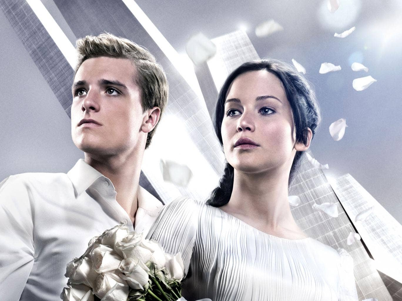 Josh Hutcherson and Jennifer Lawrence star in The Hunger Games: Catching Fire