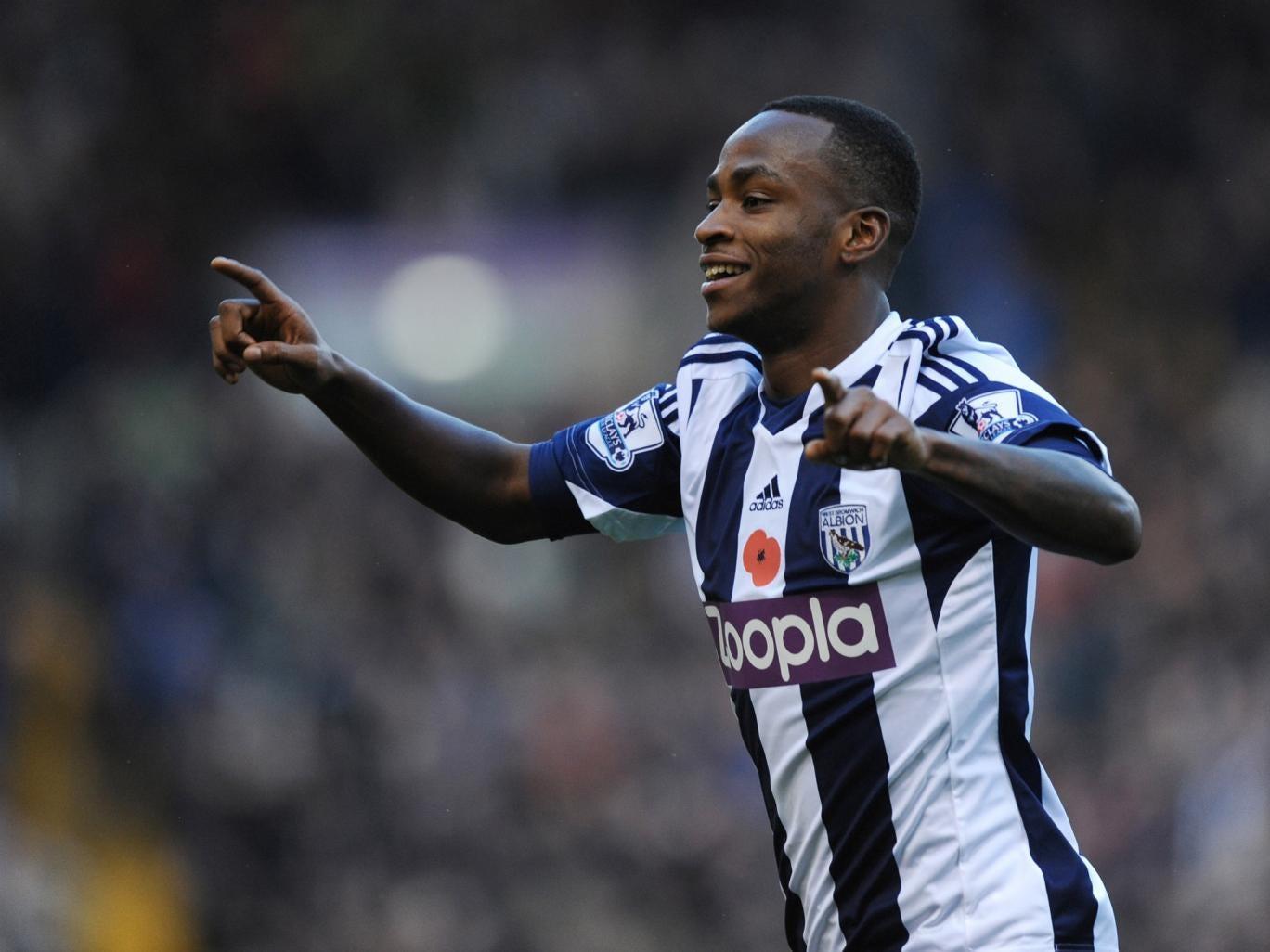 West Brom striker Saido Berahino scored his sixth goal of the season as the Baggies beat Crystal Palace 2-0