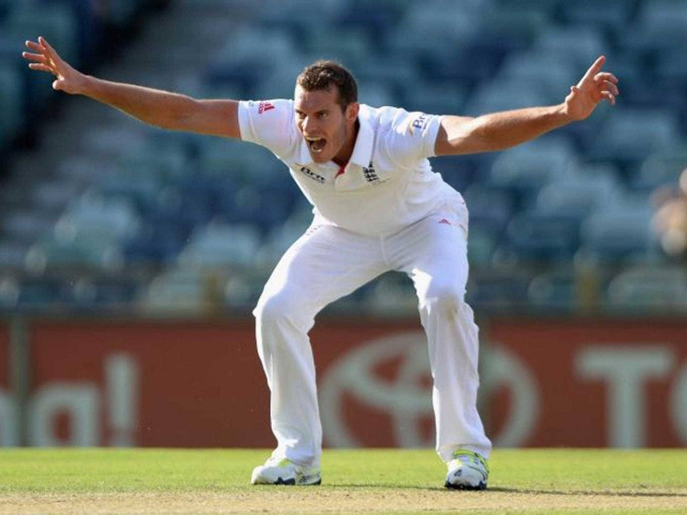 Pace appeal: Chris Tremlett, in search of a wicket during yesterday's drawn game, is also looking to win a Test place