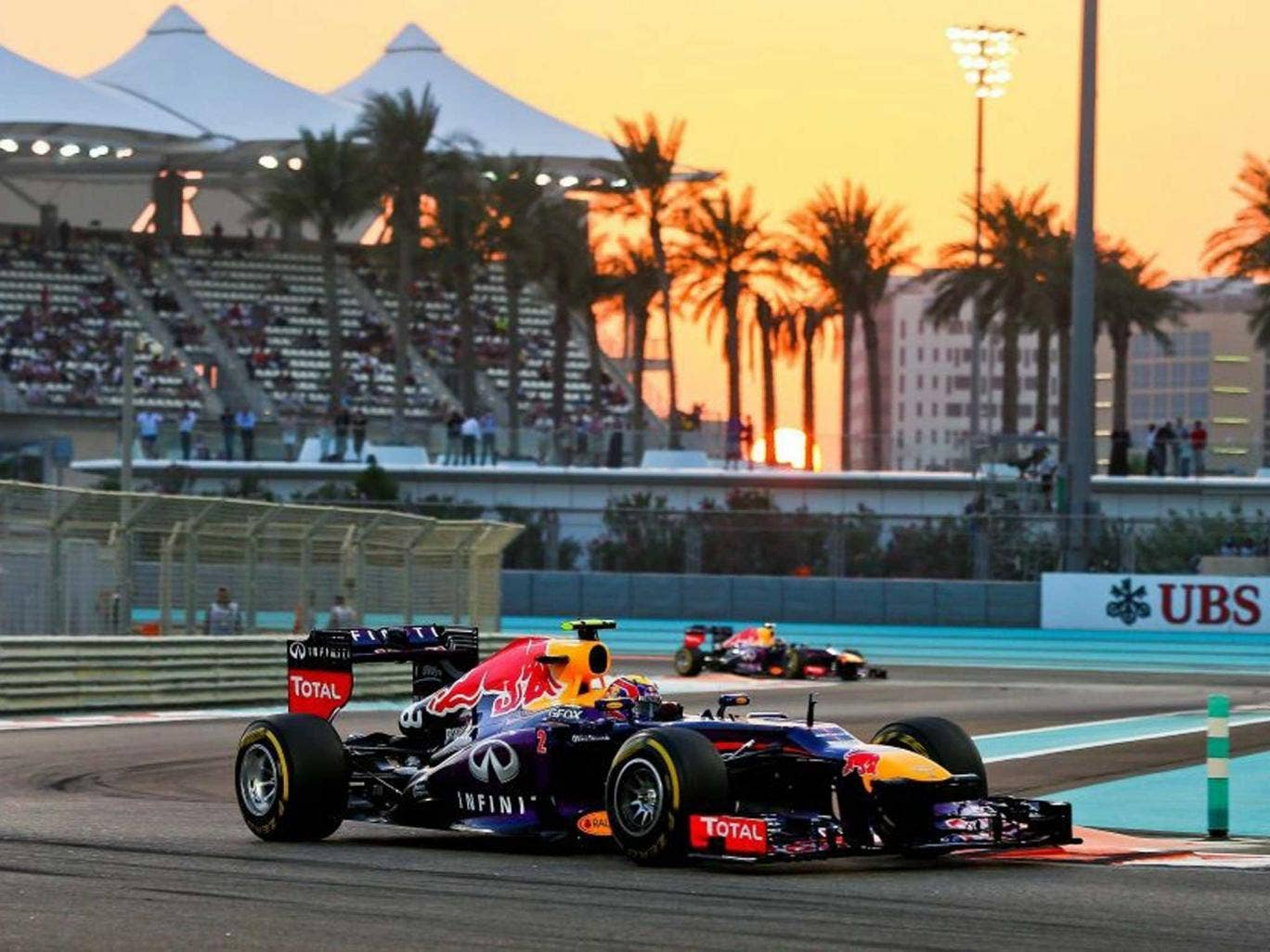 Mark two: Webber leaves Red Bull team-mate Vettel behind to qualify fastest for the second time in three races