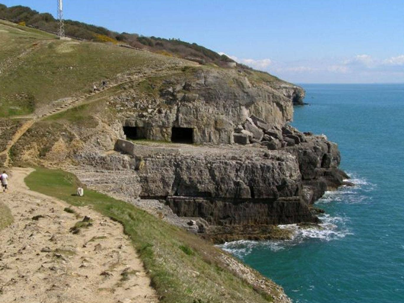The Tilly Whim caves in Dorset