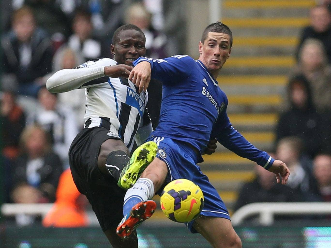 Fernando Torres (right) had to come off against Newcastle