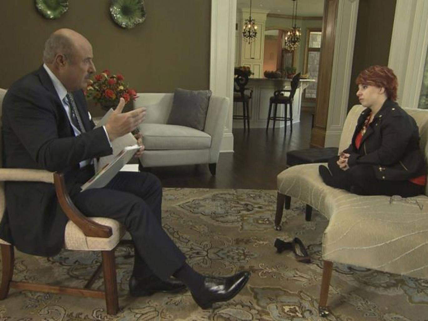 Michelle Knight, the first of Ariel Castro's Cleveland kidnapping victims, is interviewed by Dr Phil McGraw