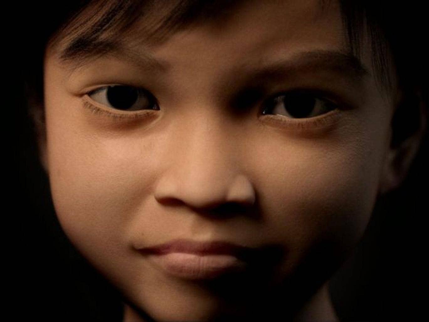 A computer-generated image made available by Terres des Hommes shows virtual alias 'Sweetie' designed as the face of a 10-year-old Filipino girl