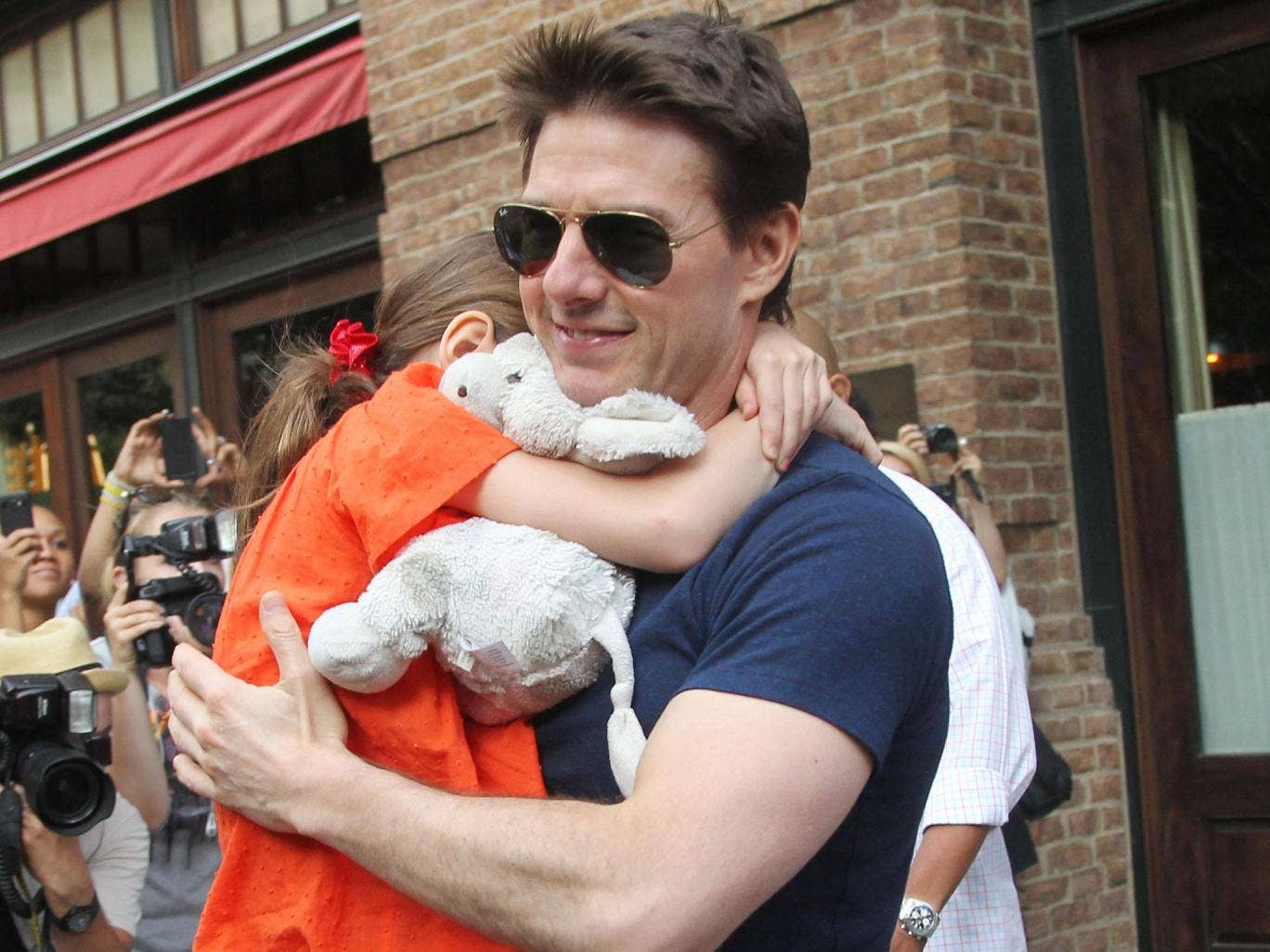Tom Cruise with his daughter Suri