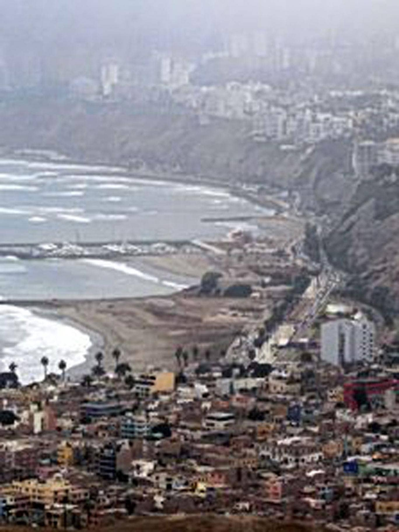 Lap it up: Lima looking out across the Pacific