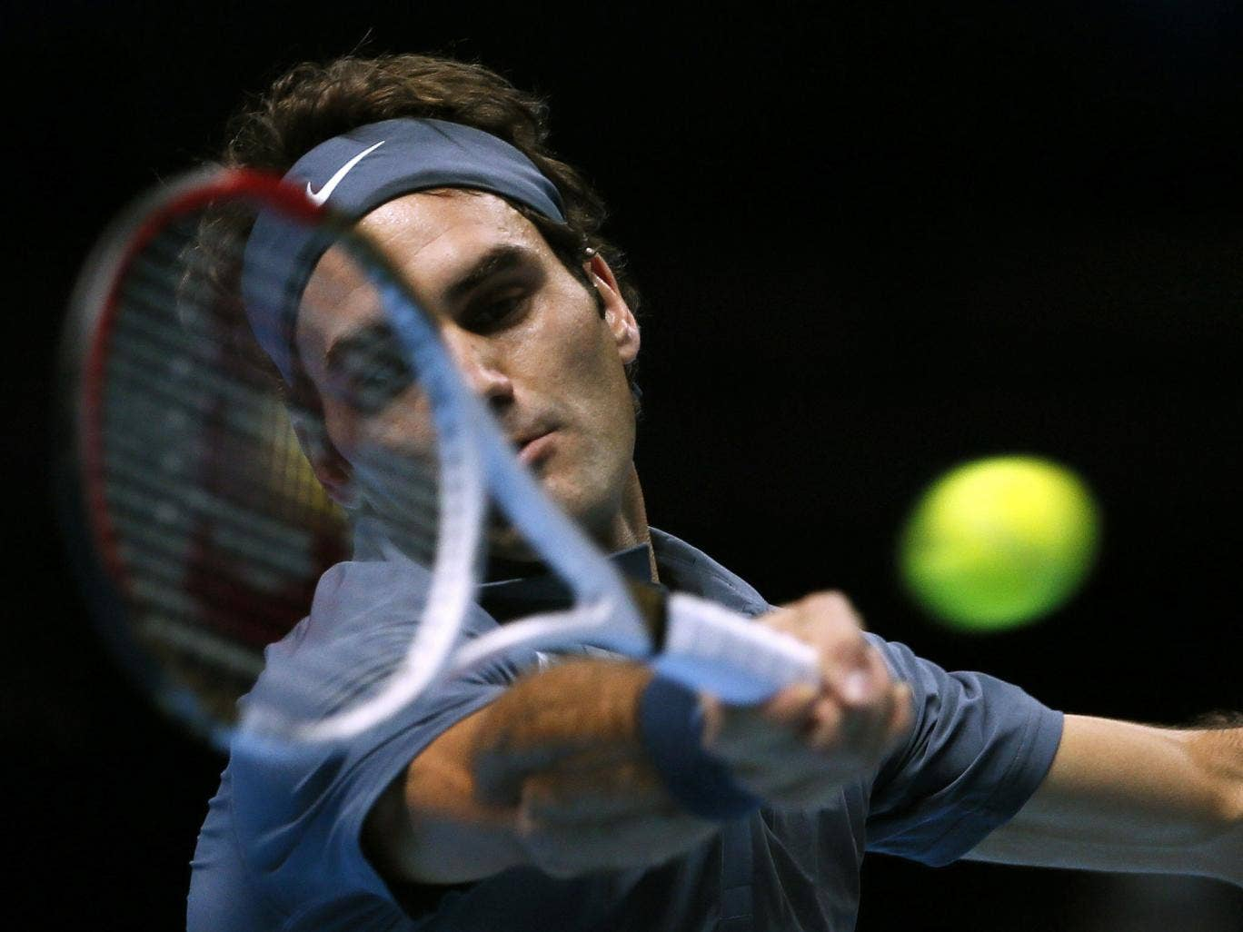 Roger Federer enjoyed a routine victory over Richard Gasquet at the O2 in London