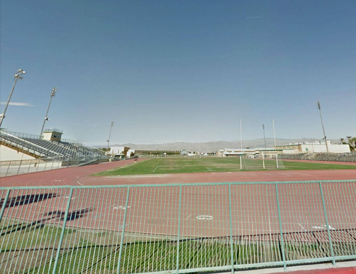 "Coachella Valley High School, where the football team is known as ""The Arabs"""