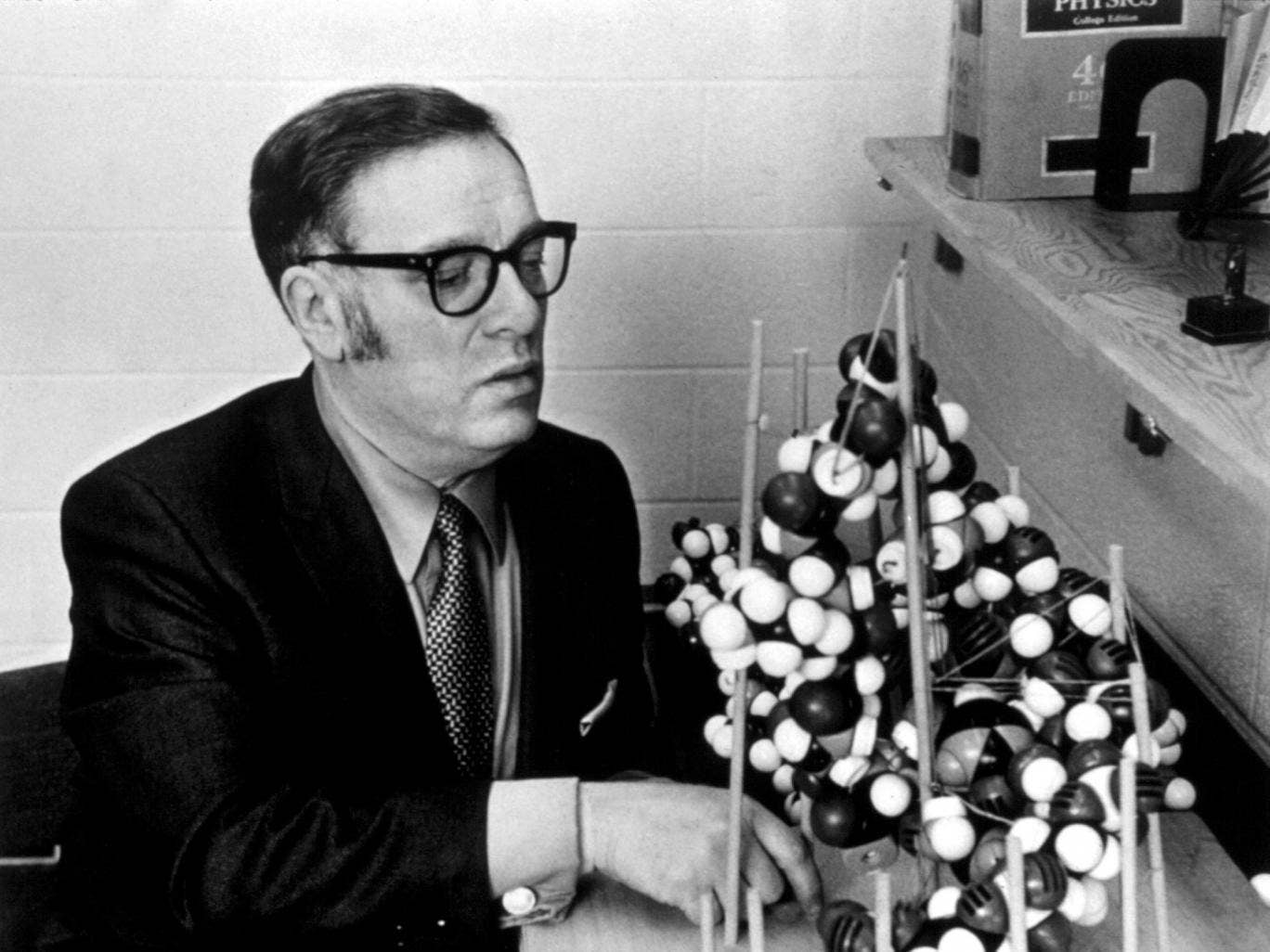 Isaac Asimov had worked as a biochemist at Boston University for more than a decade