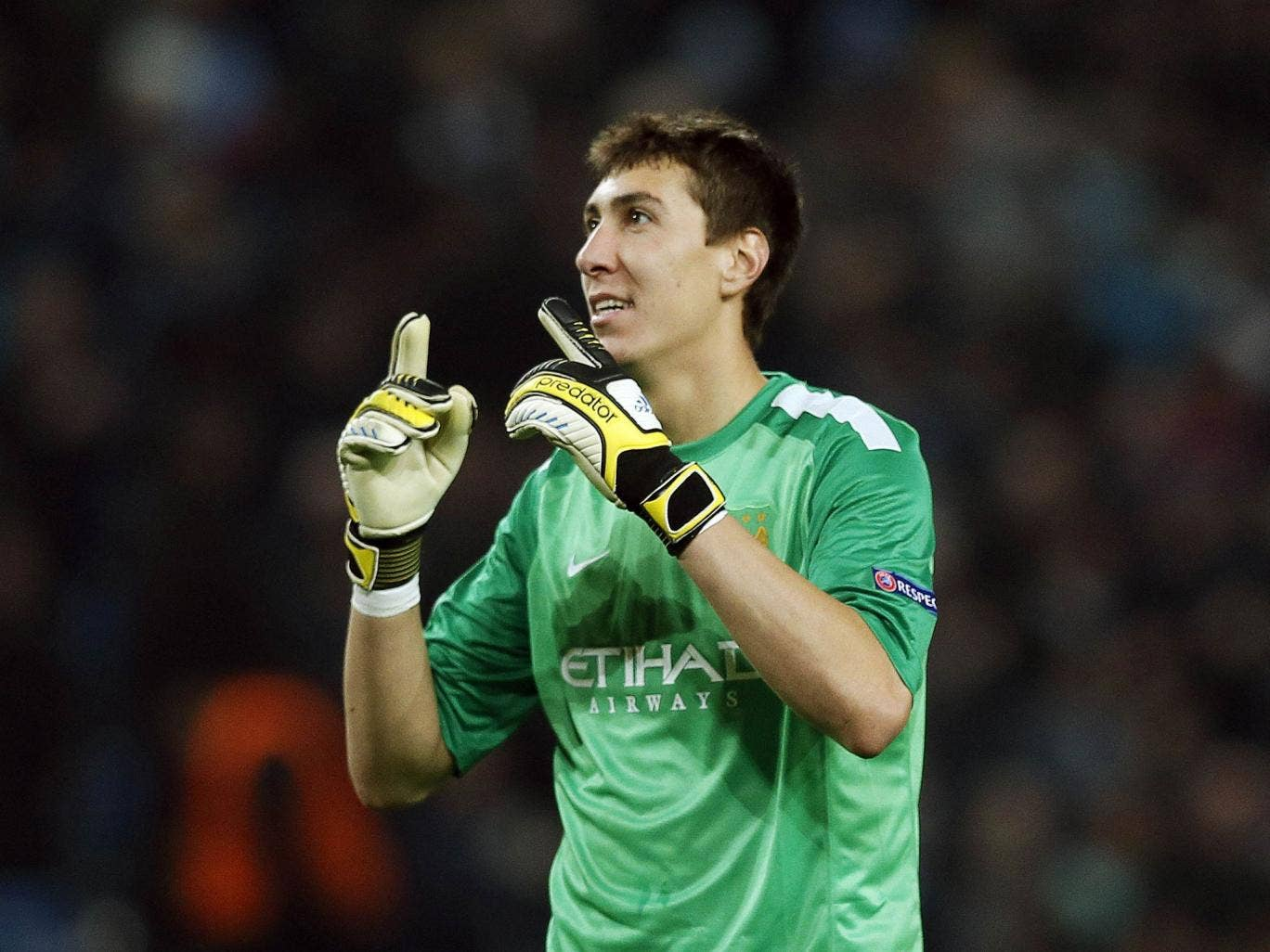 Costel Pantilimon is starting for City at Sunderland