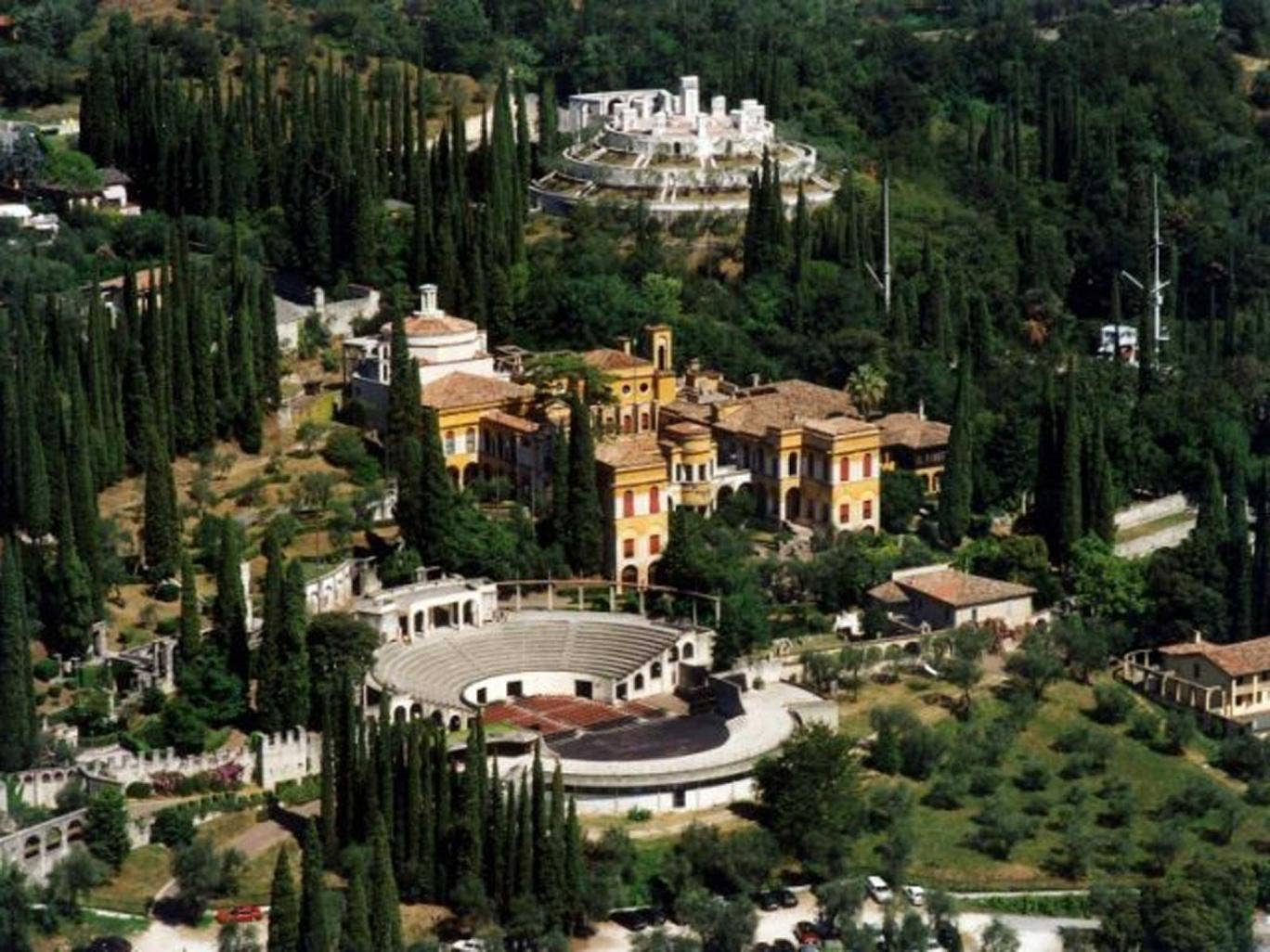 Pleasure palace: The lavish estate created by Gabriele D'Annunzio is now a museum