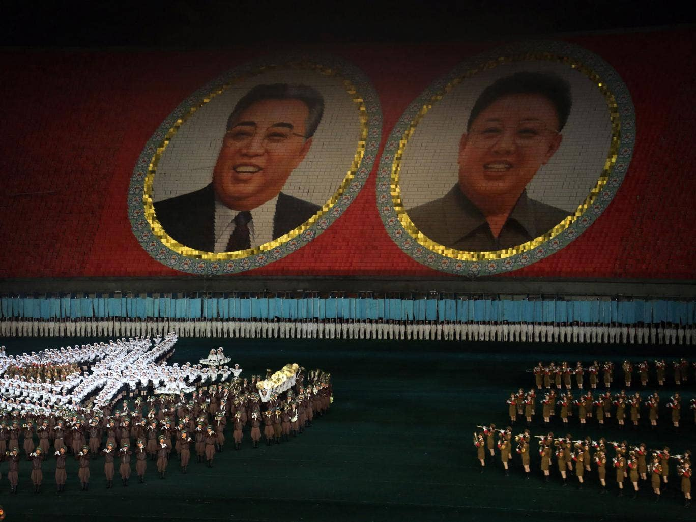 Under Kim Jong-un modern culture and technology have loosened the grip of the North Korean state – imposed by his father and grandfather, pictured, – and altered the world-view of its population
