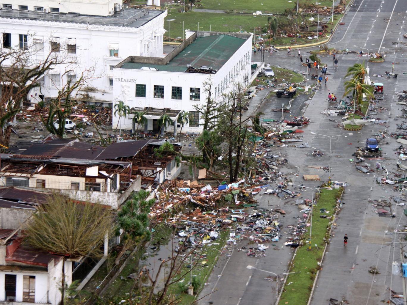 The aftermath of Typhoon Haiyan in Tacloban