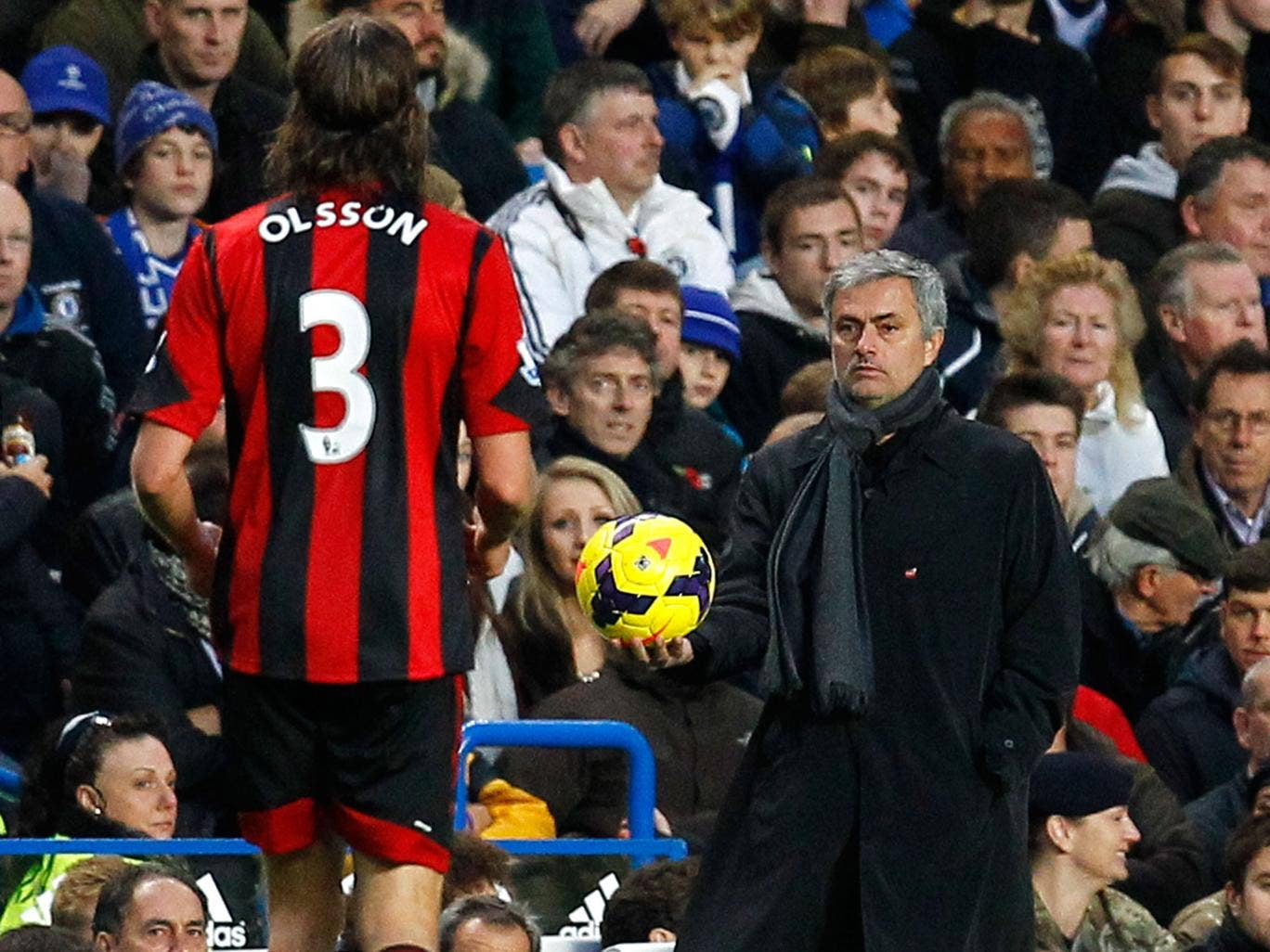 "Jose Mourinho reportedly called West Brom defender Jonas Olsson a ""Mickey Mouse player"" after Chelsea's 2-2 draw"