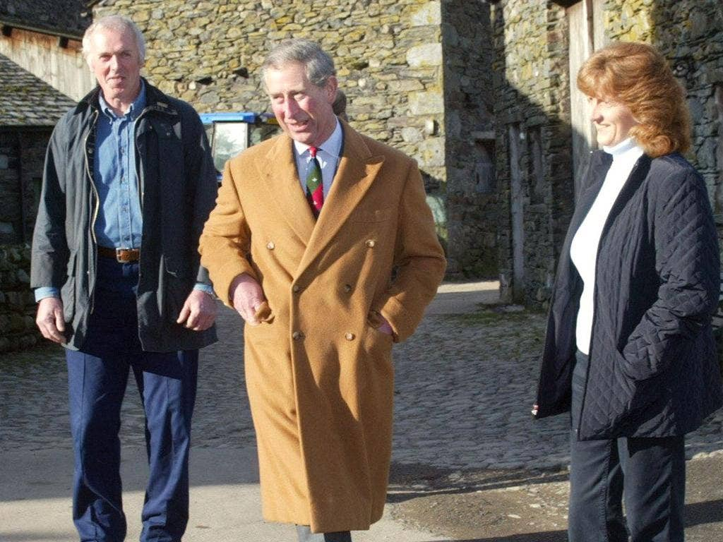 Farmers' friend Prince Charles on a visit to Cumbria