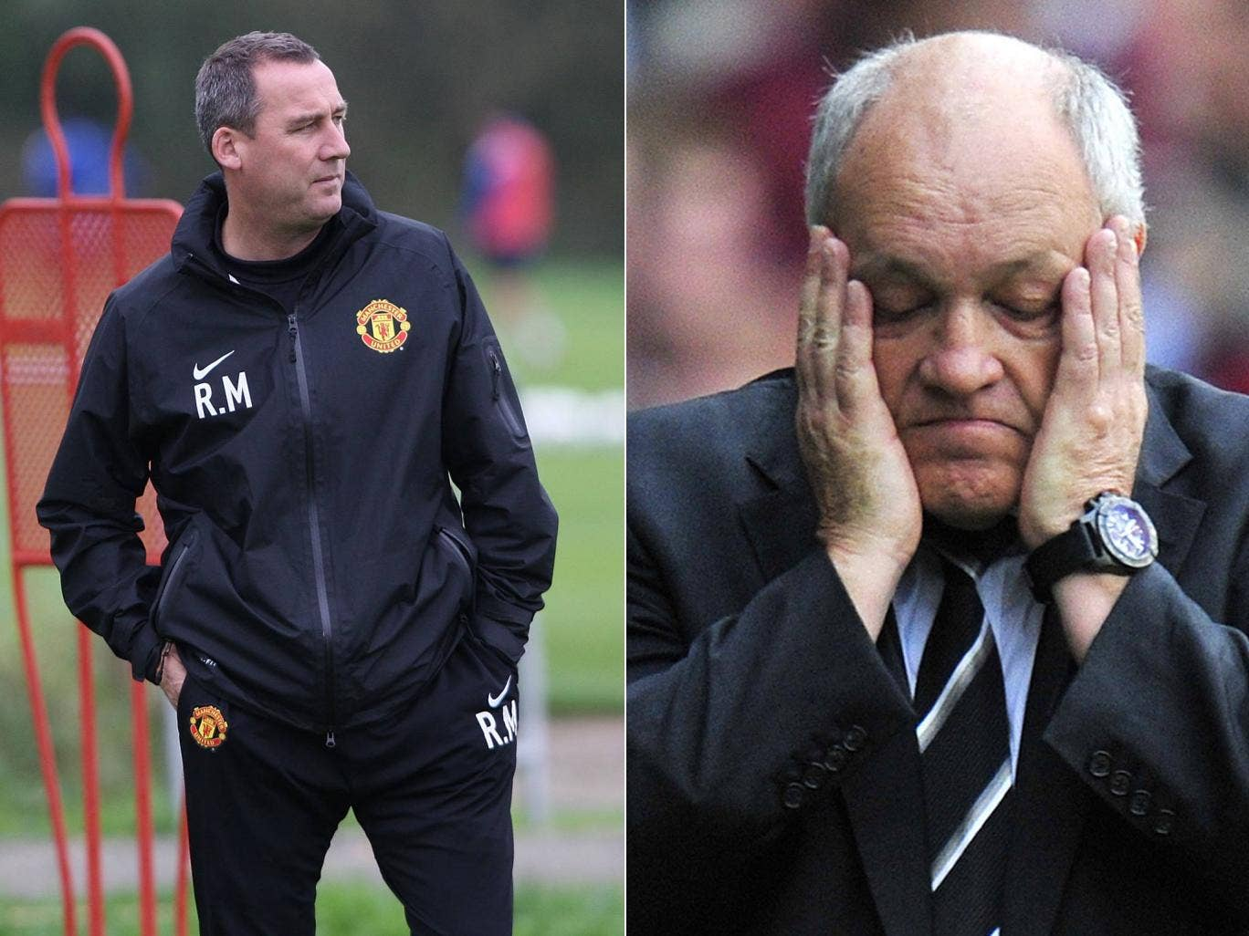 Rene Meulensteen and Martin Jol