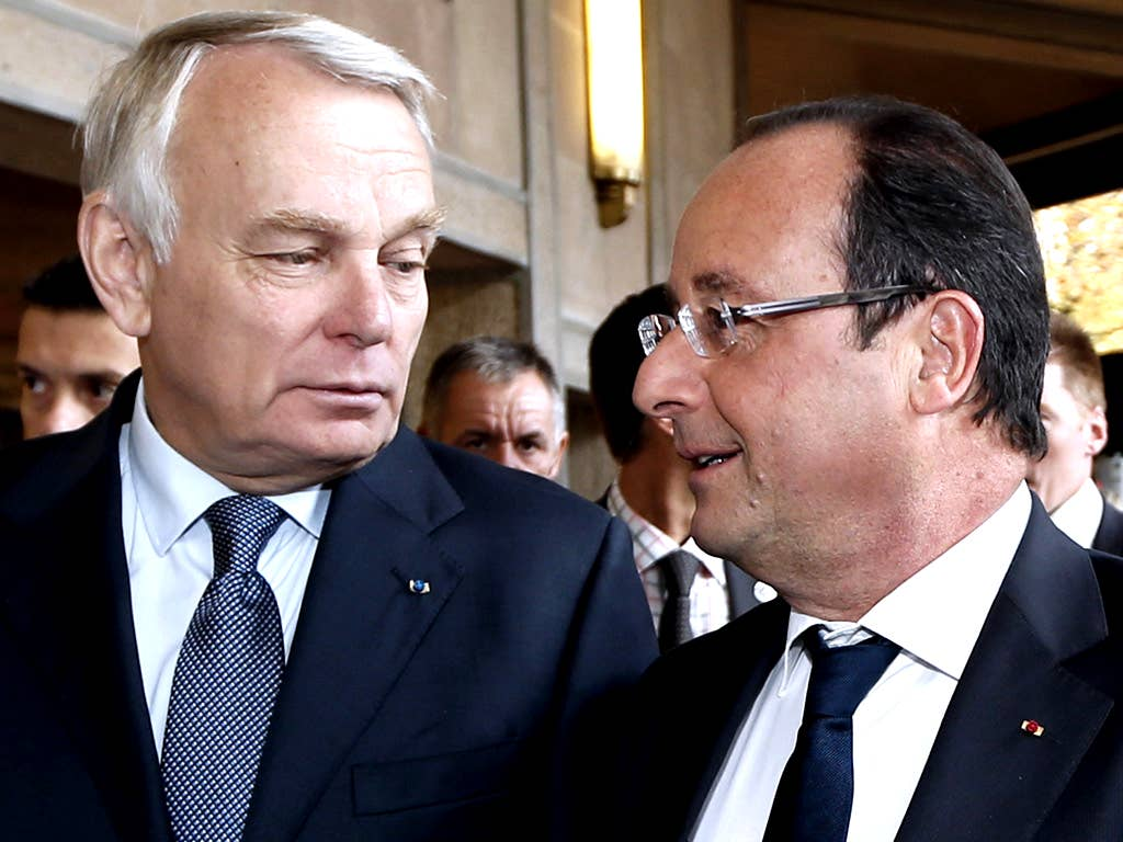 Prime Minister Jean-Marc Ayrault and President Francois Hollande