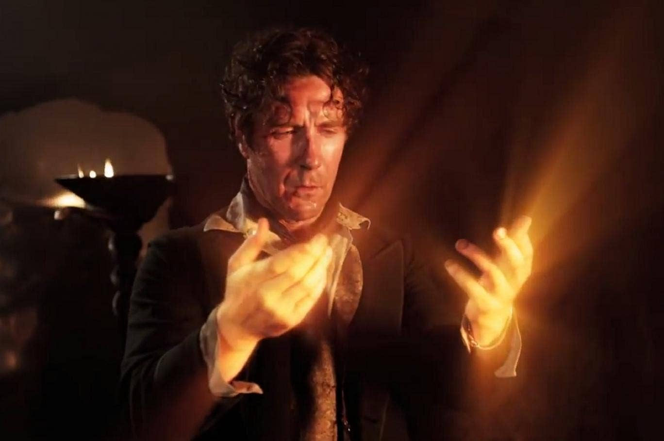 Paul McGann returned as the Time Lord in 'The Night of the Doctor'