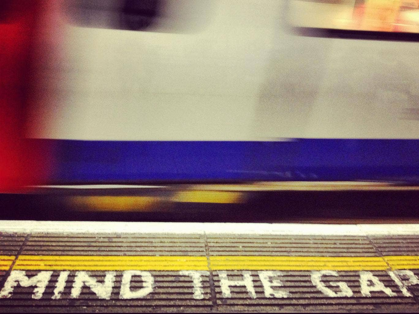 The well-known warning message on the London underground
