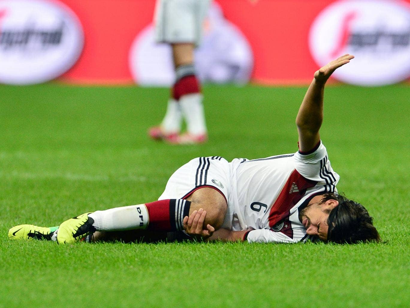 Germany midfielder Sami Khedira could face missing the World Cup after tearing his anterior cruciate ligament in the 1-1 draw with Italy