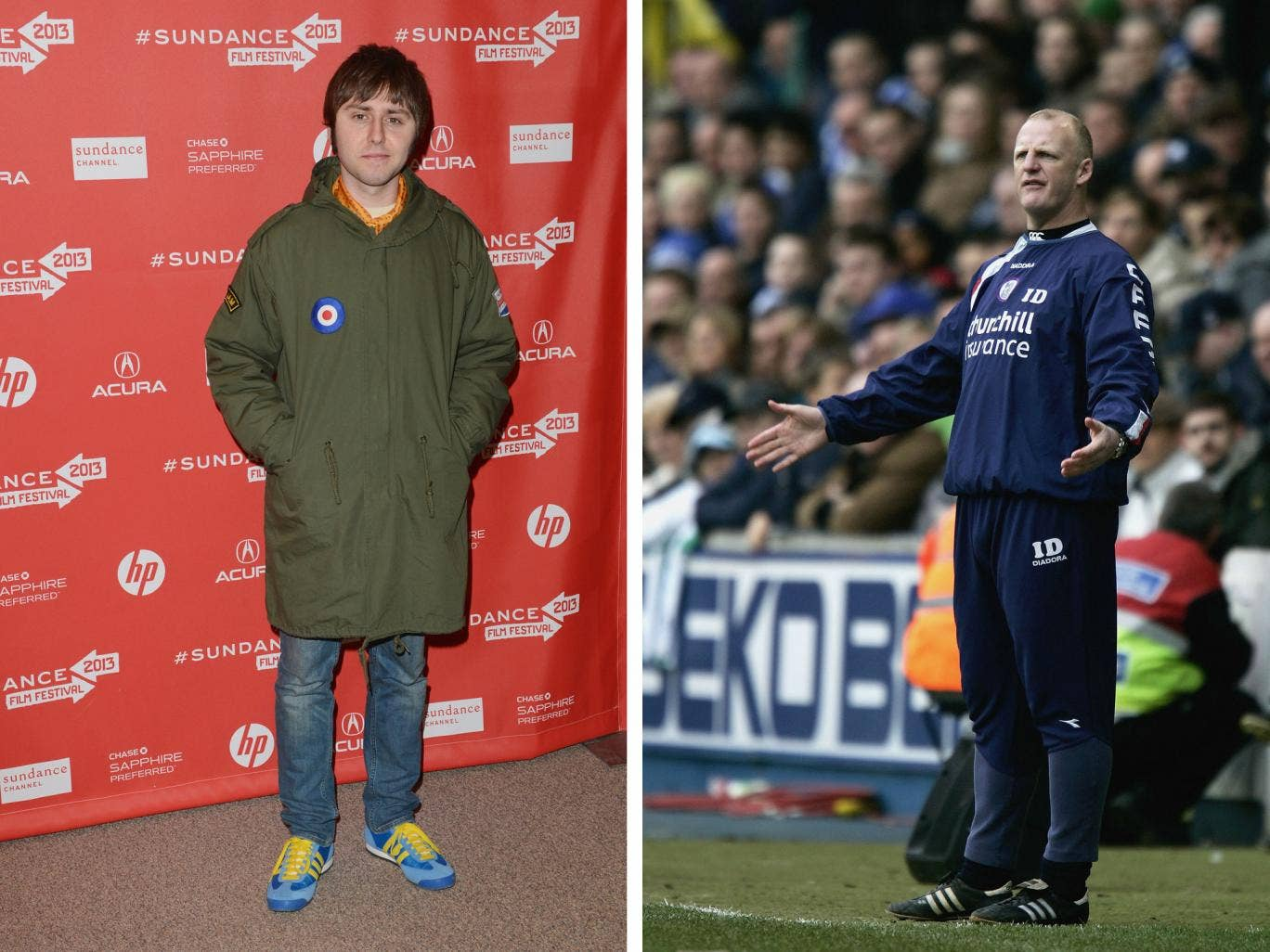 James Buckley has been caught up in a Twitter row with Iain Dowie's son Oliver over a Crystal Palace return