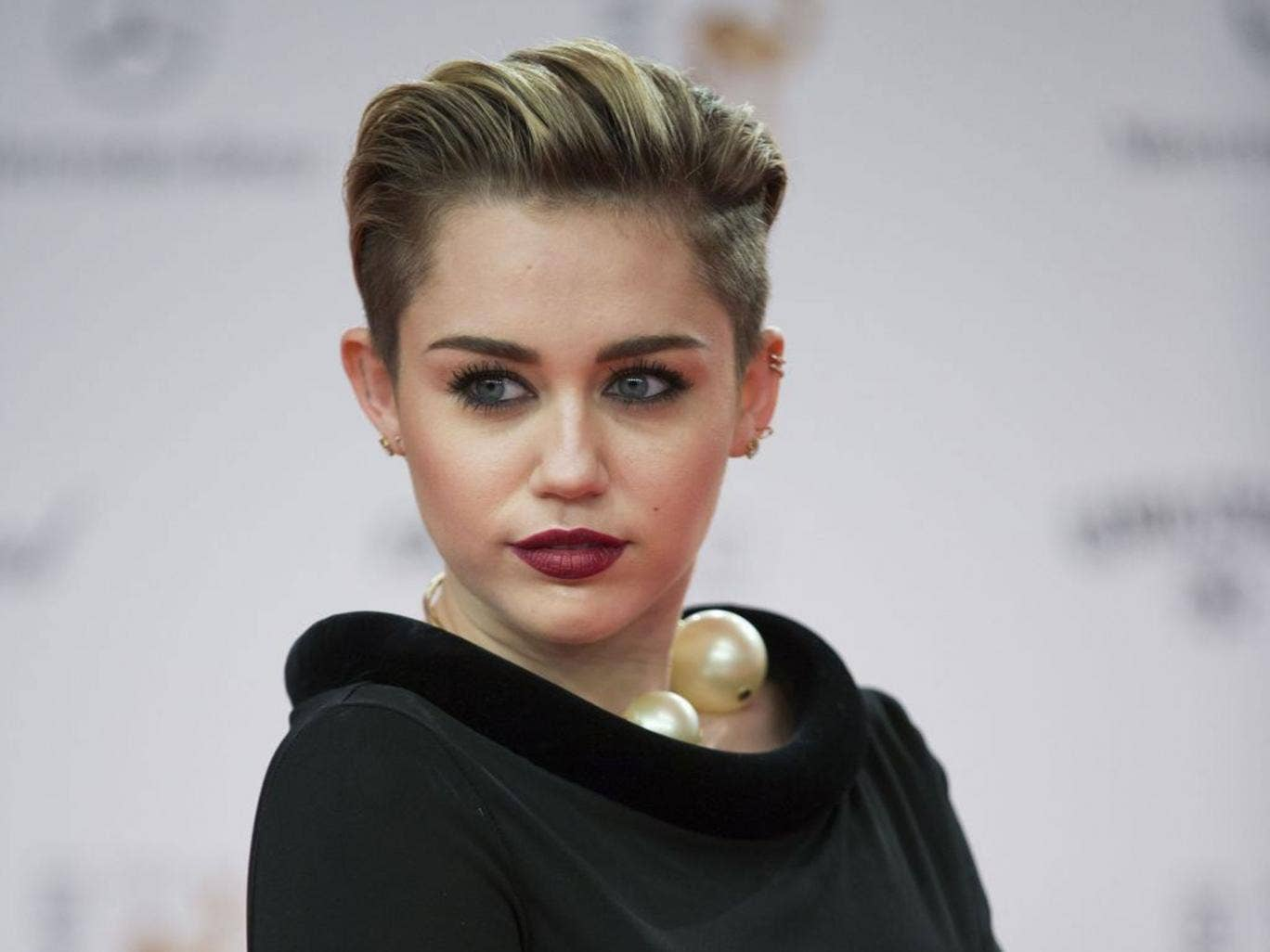 Power in pop: Miley Cyrus at a recent red carpet event