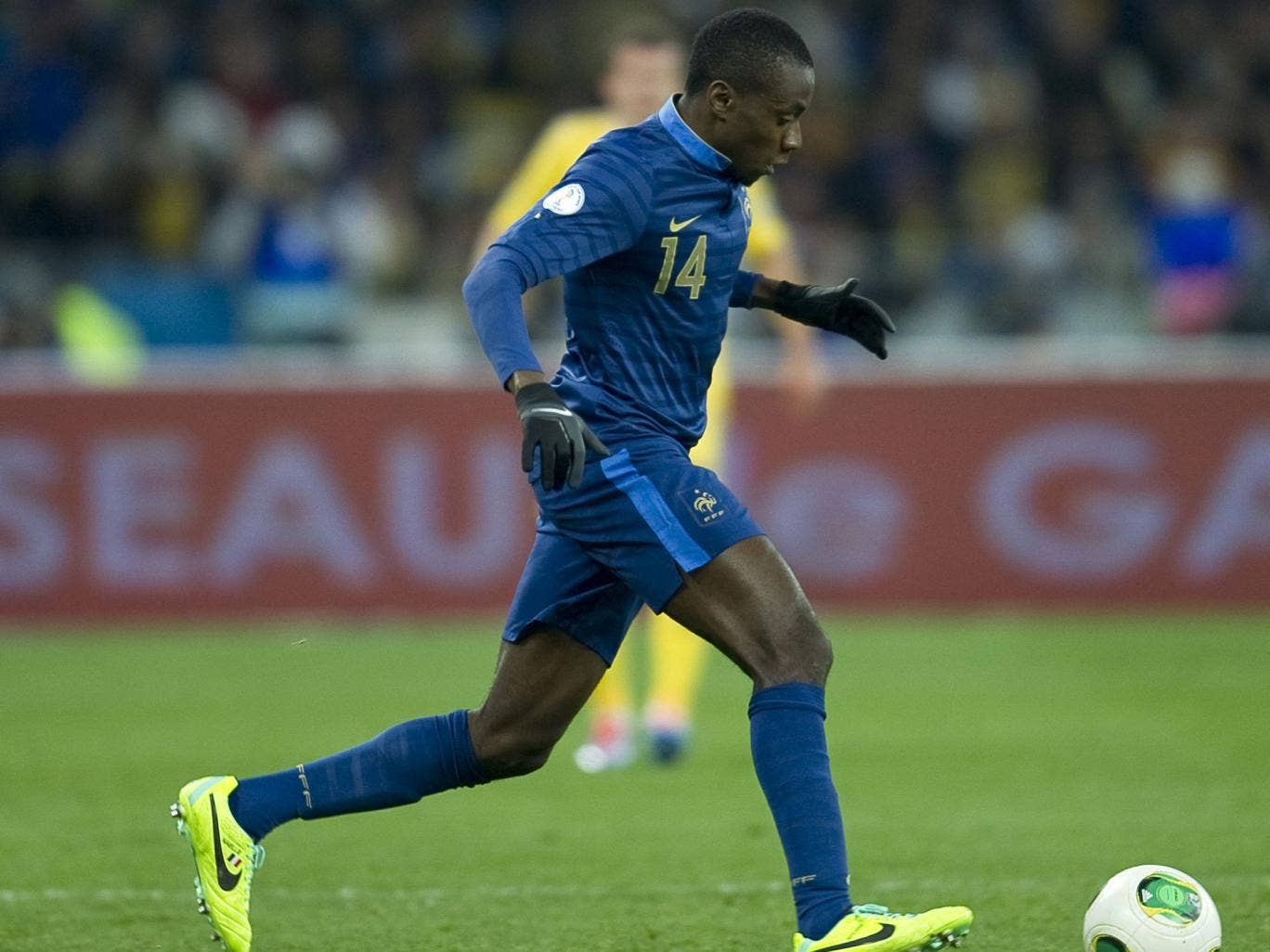 Blaise Matuidi in action during the first leg against Ukraine on Friday