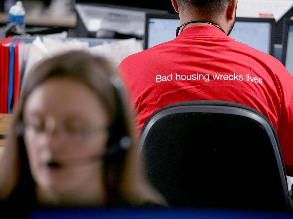 Shelter is expecting a surge in calls in the run-up to Christmas
