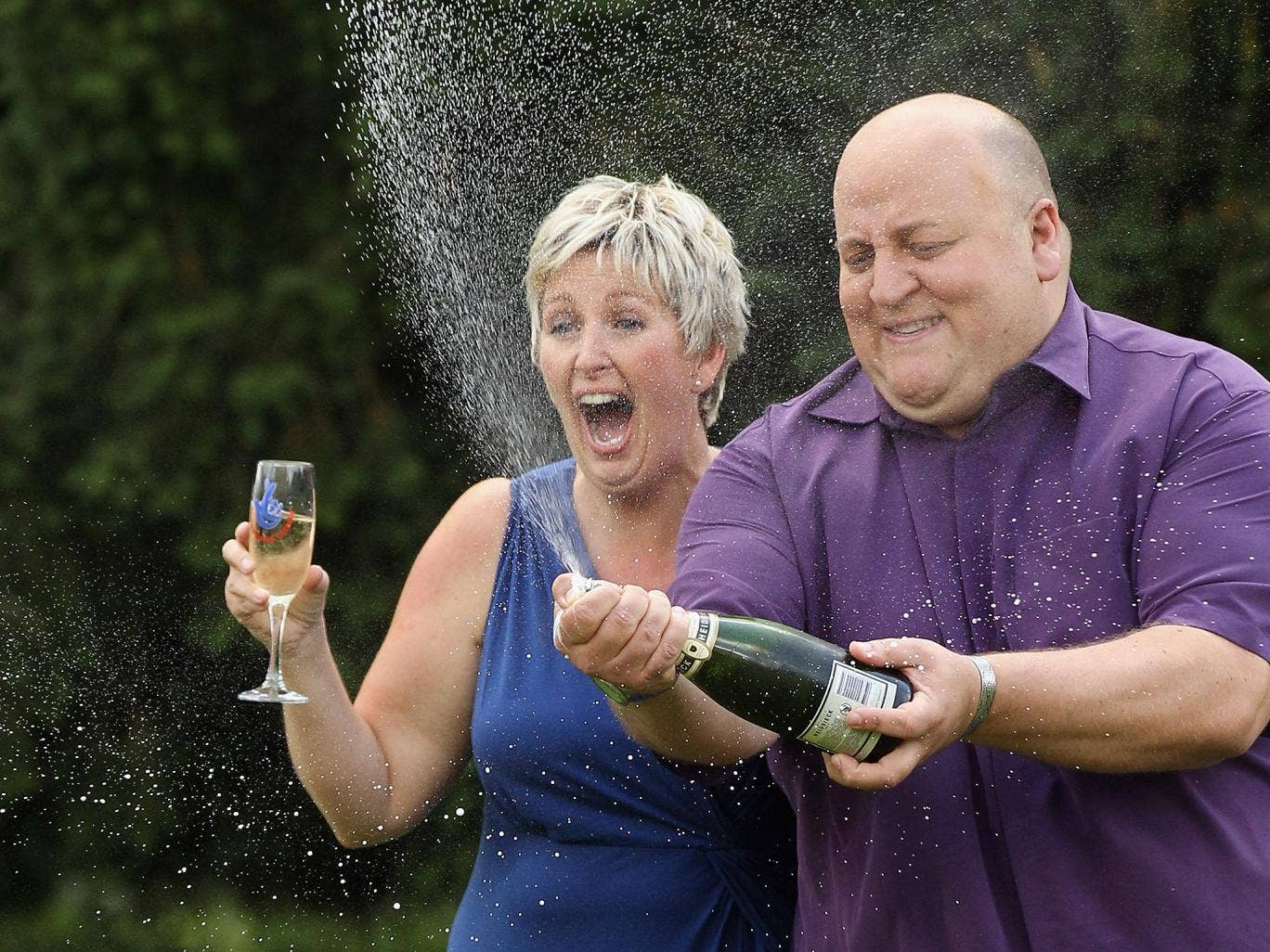 Flashback to August 2012: Adrian and Gillian Bayford celebrate winning the EuroMillions jackpot of over £148 million